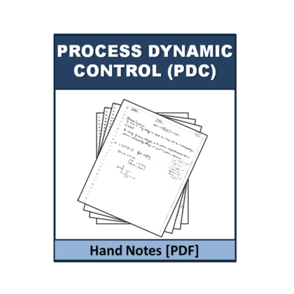 Process Dynamic Control (PDC)  Hand Note