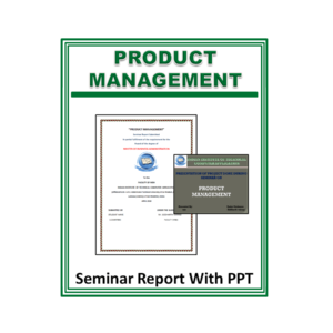 Product Management Seminar Report With PPT