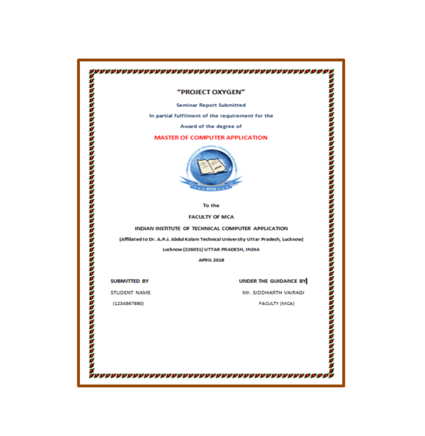 Project Oxygen Seminar Report