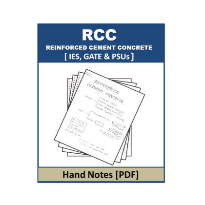 Reinforced Cement Concrete(RCC) Hand Note
