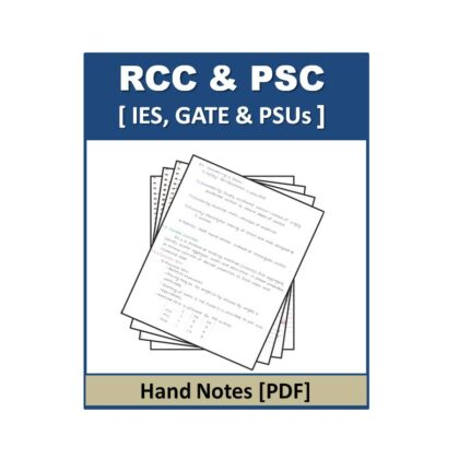 RCC & PSC Hand Note