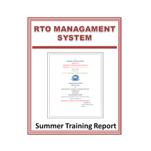 RTO Managament System Summer Training Report