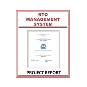 RTO management System Project Report