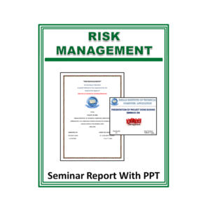 Risk Management Seminar Report With PPT