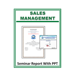 Sales Management Seminar Report With PPT