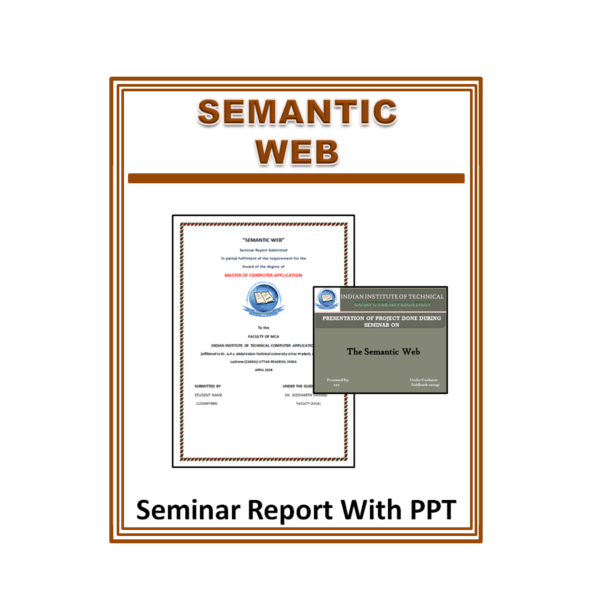 Semantic Web Seminar Report With PPT