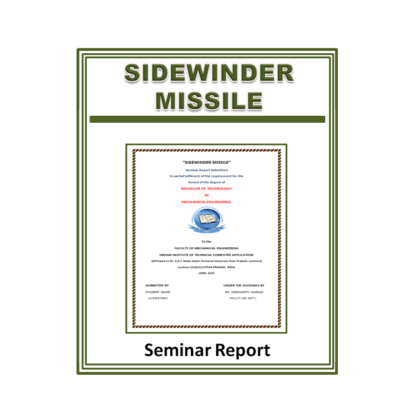 Sidewinder Missile Seminar Report