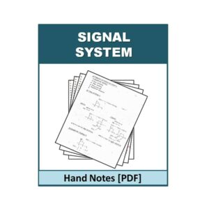 Signal & System Hand Note