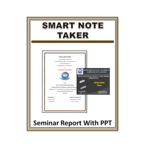 Smart Note Taker Seminar Report With PPT