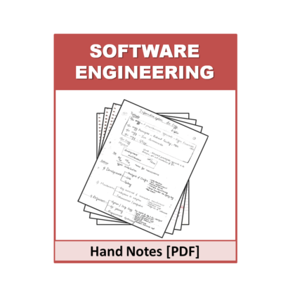 Software Engineering Hand Note