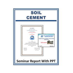 Soil Cement Seminar Report With PPT