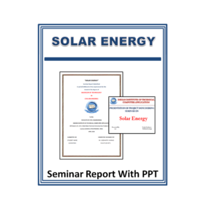 Solar Energy Seminar Report With PPT