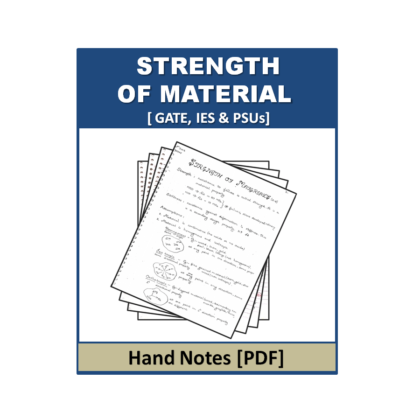 Strength of Material Hand Note