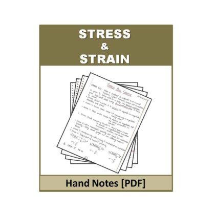 Stress & Strain Hand Note