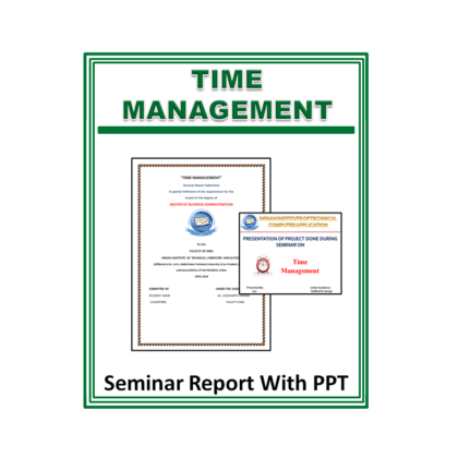 Time Management Seminar Report with PPT