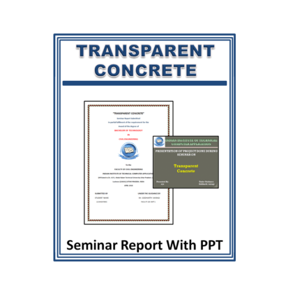 Transparent Concrete Seminar Report with PPT