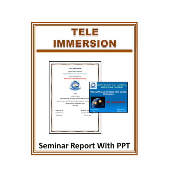 Tele Immersion Seminar Report With PPT