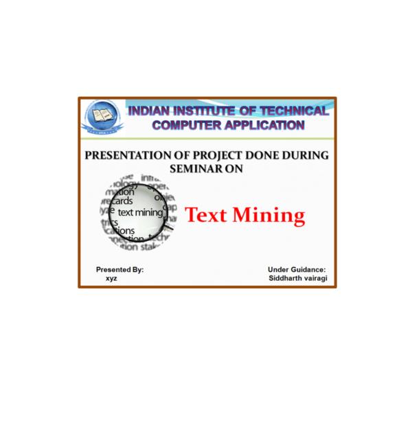 Text Mining PPT