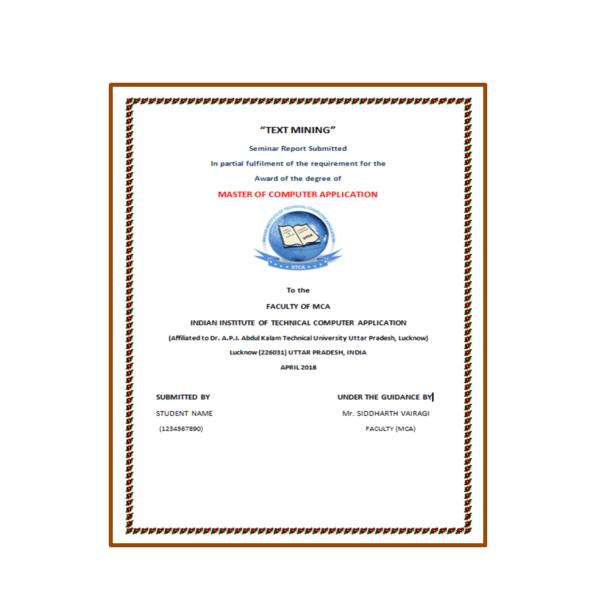 Text Mining Seminar Report