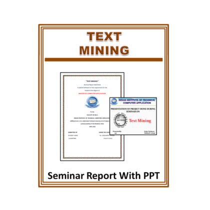 Text Mining Seminar Report With PPT