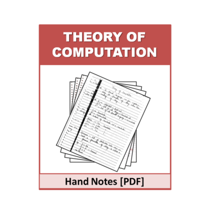 Theory of Computation Hand Note