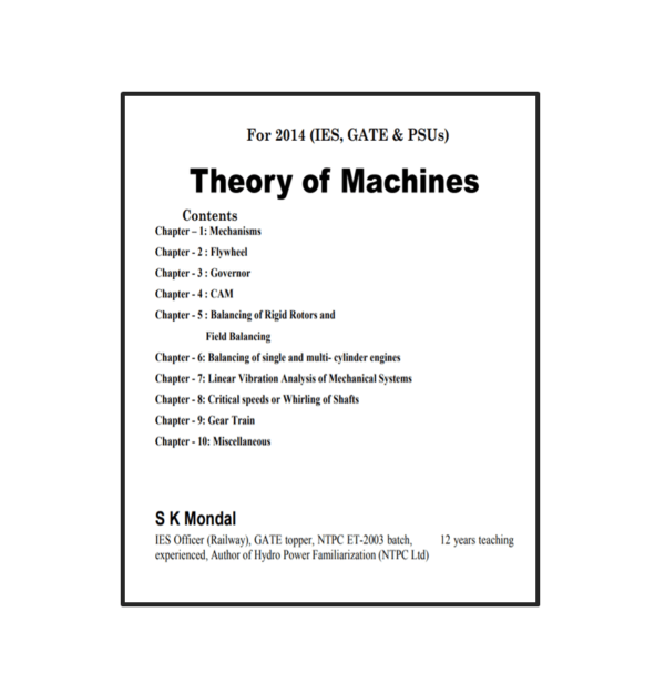 Theory of Mechanics Book 2014 Content