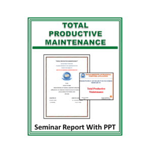 Total Productive Maintenance Seminar Report With PPT