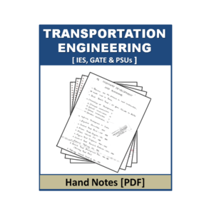 Transportation Engineering Hand Note in PDF