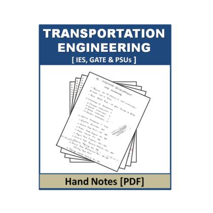 Transportation Engineering Hand Note