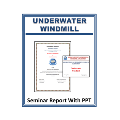 Underwater Windmill Seminar Report with PPT
