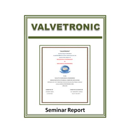 Valvetronic Seminar Report