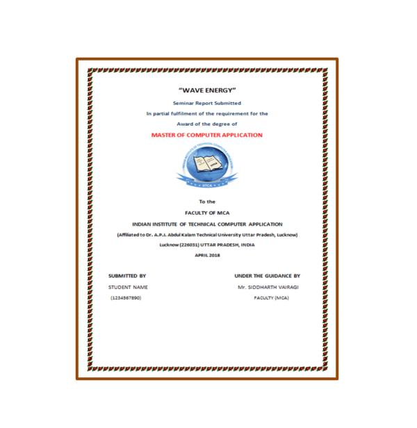Wave Energy Seminar Report