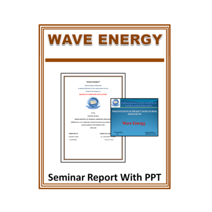 Wave Energy Seminar Report With PPT