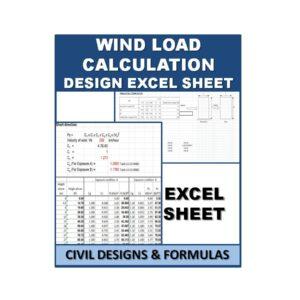 Wind load Calculation Design Excel Sheet