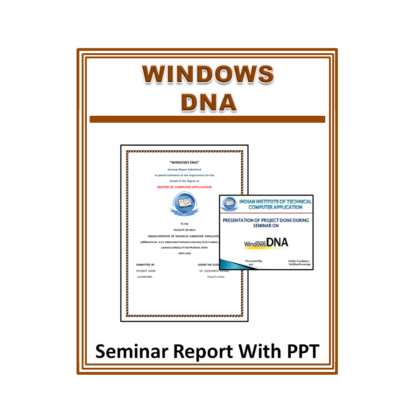 Windows DNA Seminar Report With PPT