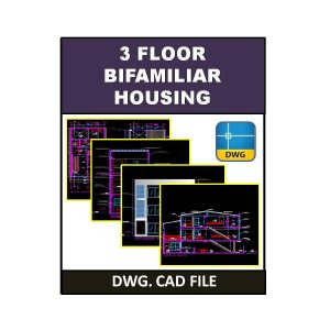 3 Floor Bifamiliar Housing