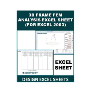 3D Frame FEM Analysis Excel Sheet (For Excel 2003)