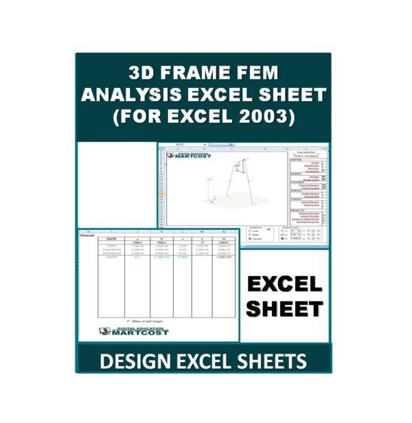 3D Frame FEM Analysis Excel Sheet (For Excel 2003)
