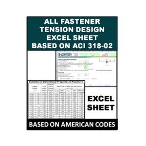 All Fastener tension Design Excel Sheet Based On ACI 318-02