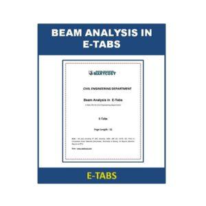 Beam Analysis in E Tabs