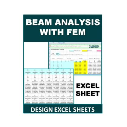 Beam Analysis with FEM Design Excel Sheet