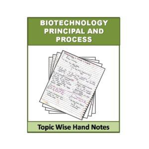 Biotechnology principal and process