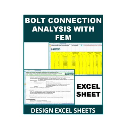 Bolt Connection Analysis with FEM Design Excel Sheet