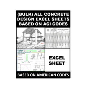 (Bulk) All Concrete Design Excel Sheets Based on ACI Codes