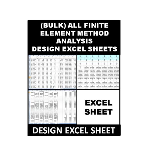 (Bulk) All Finite Element Method Analysis Excel Sheets