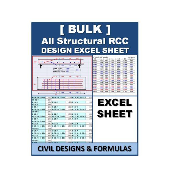 (Bulk) All Structural RCC Design Excel Sheets