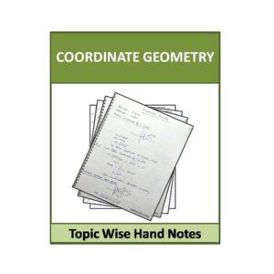 Coordinate Geometry Hand Note