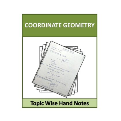 Coordinate Geometry Hand Note