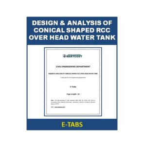 DESIGN & ANALYSIS OF CONICAL SHAPED RCC OVER HEAD WATER TANK