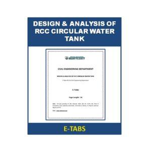 DESIGN & ANALYSIS OF RCC CIRCULAR WATER TANK